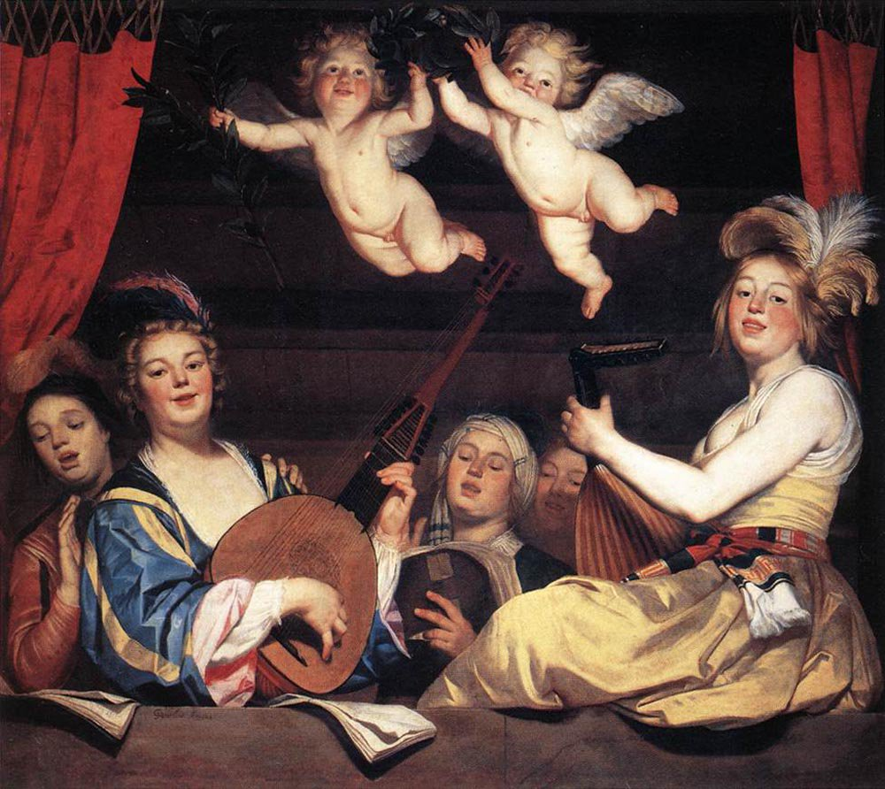Concert on a Balcony 1624 | Gerrit van Honthorst | oil painting