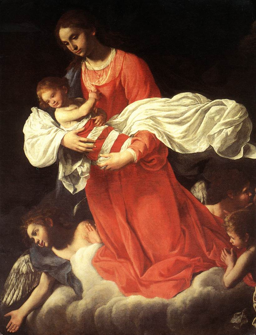 The Virgin and the Child with Angels | Giovanni Baglione | oil painting