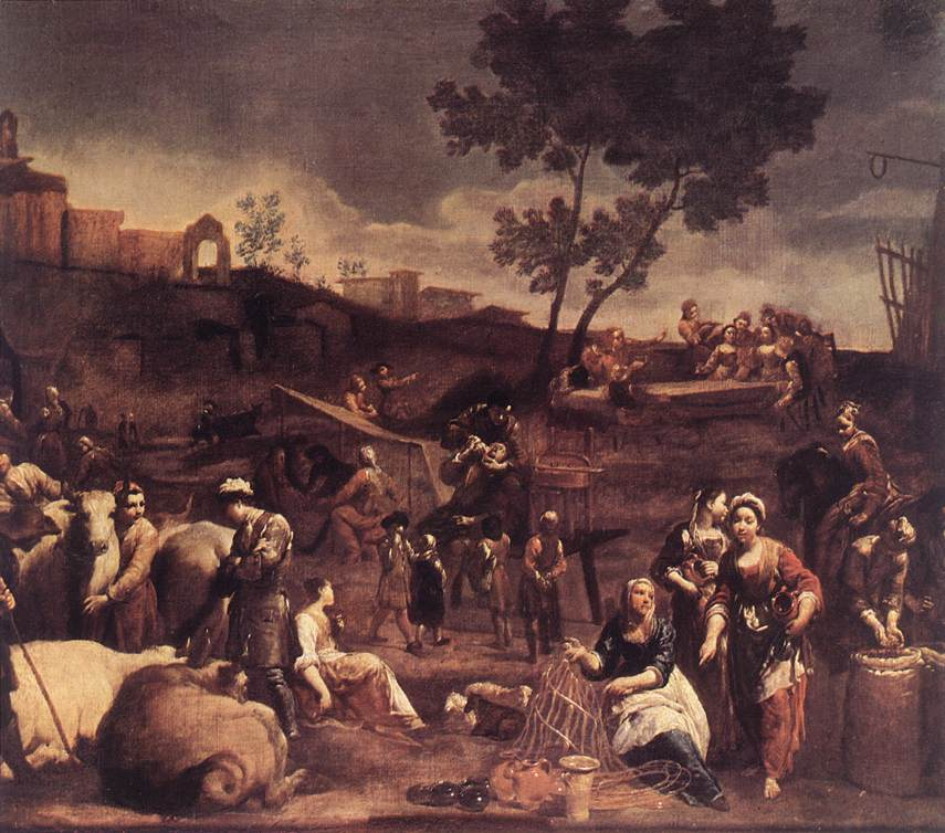 Village Fair 1709 | Giuseppe Maria Crespi | oil painting