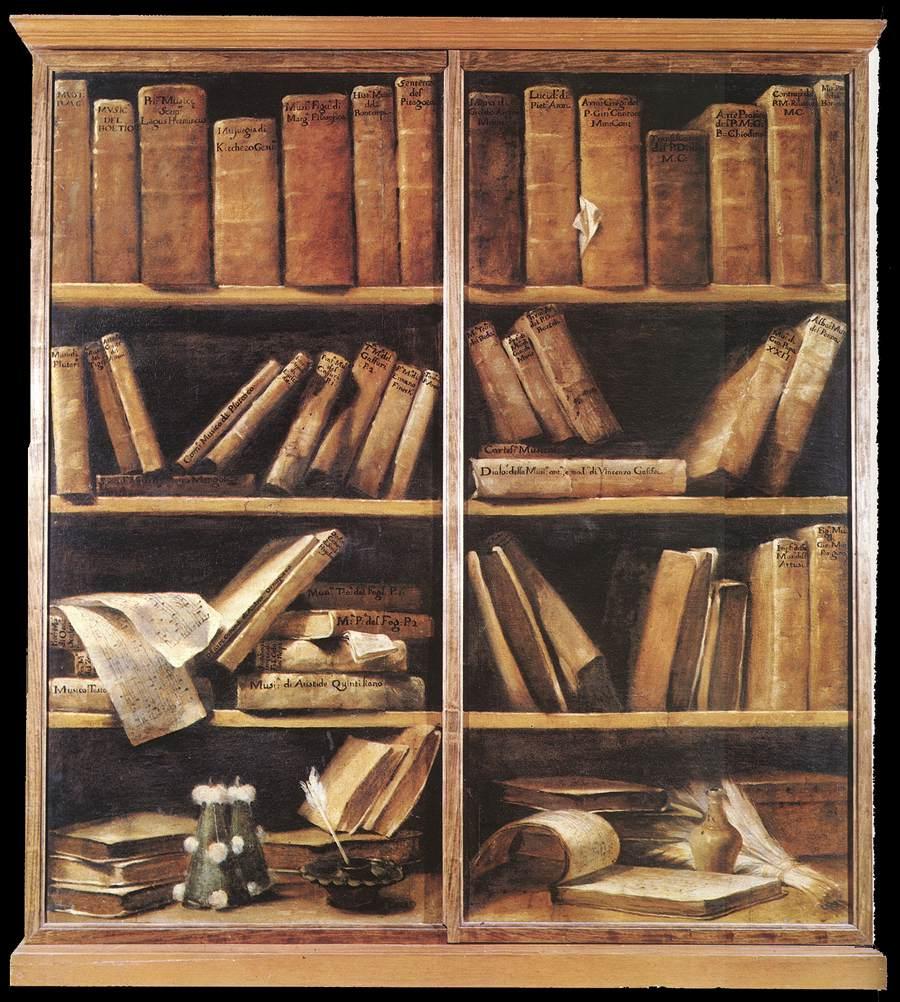 Bookshelves 1725 | Giuseppe Maria Crespi | oil painting