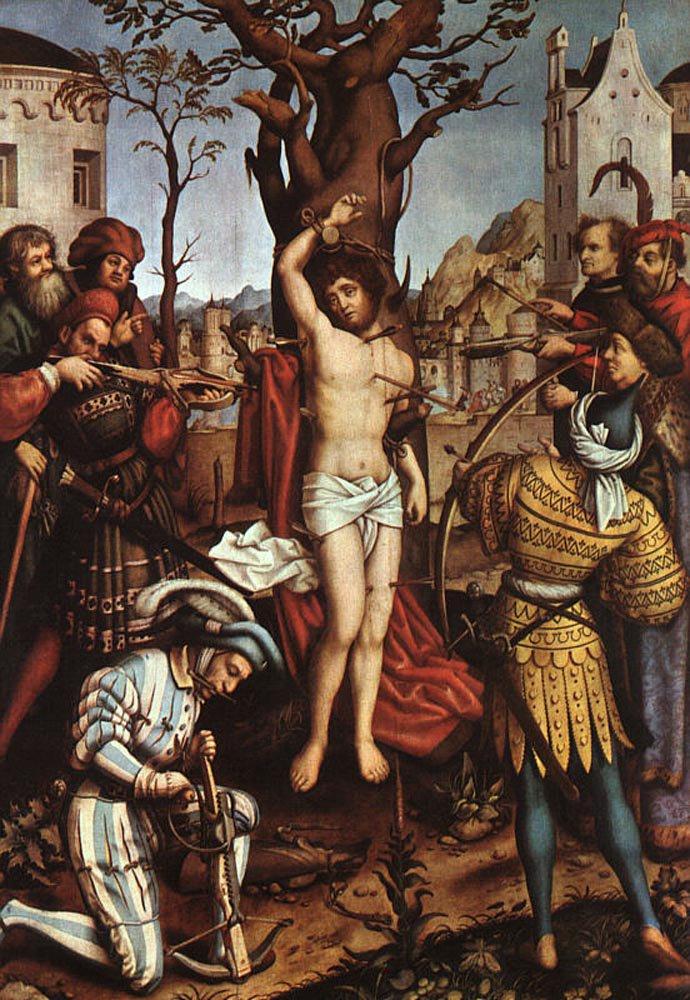 The Martyrdom of Saint Sebastian 1516 | Hans Holbien the Elder | oil painting