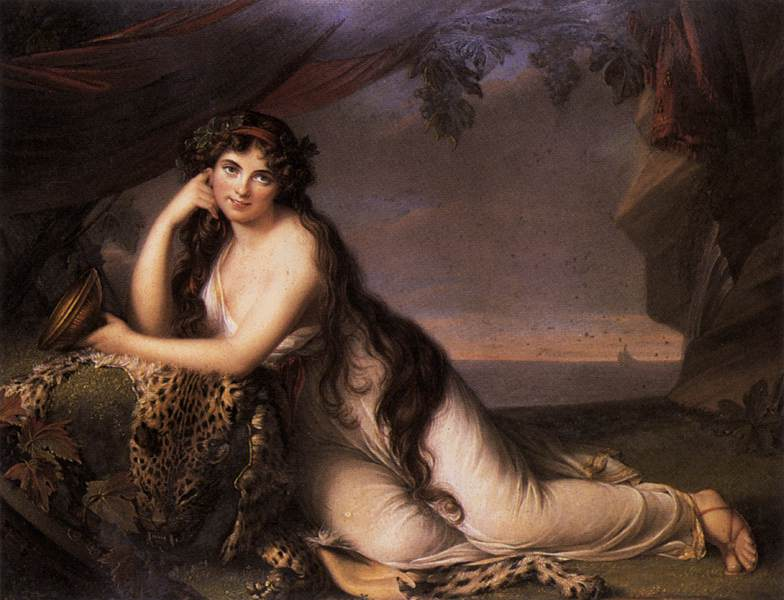 Lady Hamilton as a Bacchante 1803 | Henry Bone | oil painting