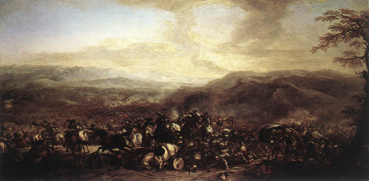 The Battle of Mongiovino | Jacques Courtois | oil painting