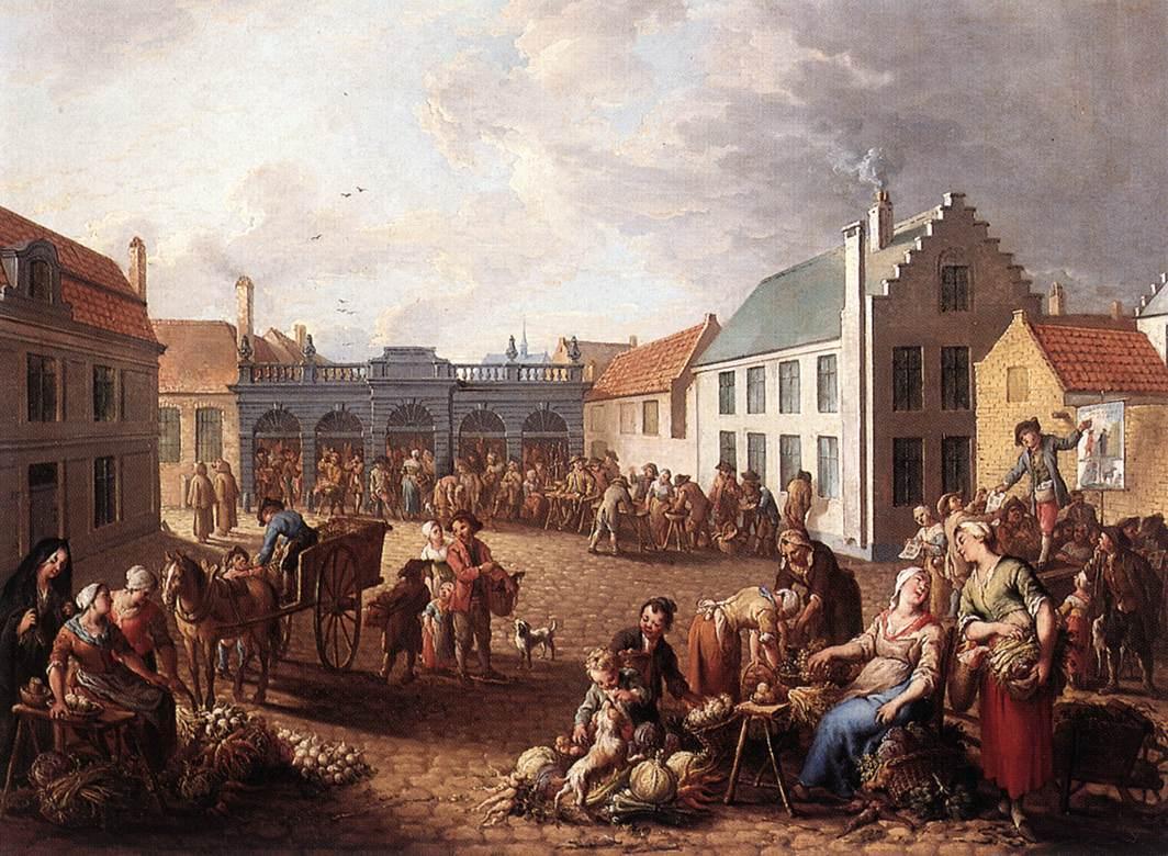 The Pandreitje in Bruges 1778 | Jan Antoon Garemijn | oil painting