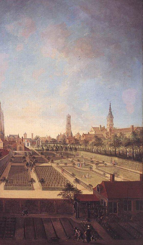 Garden of the Willaeys Vleys Family at Groeninge Bruge 1759 | Jan Antoon Garemijn | oil painting