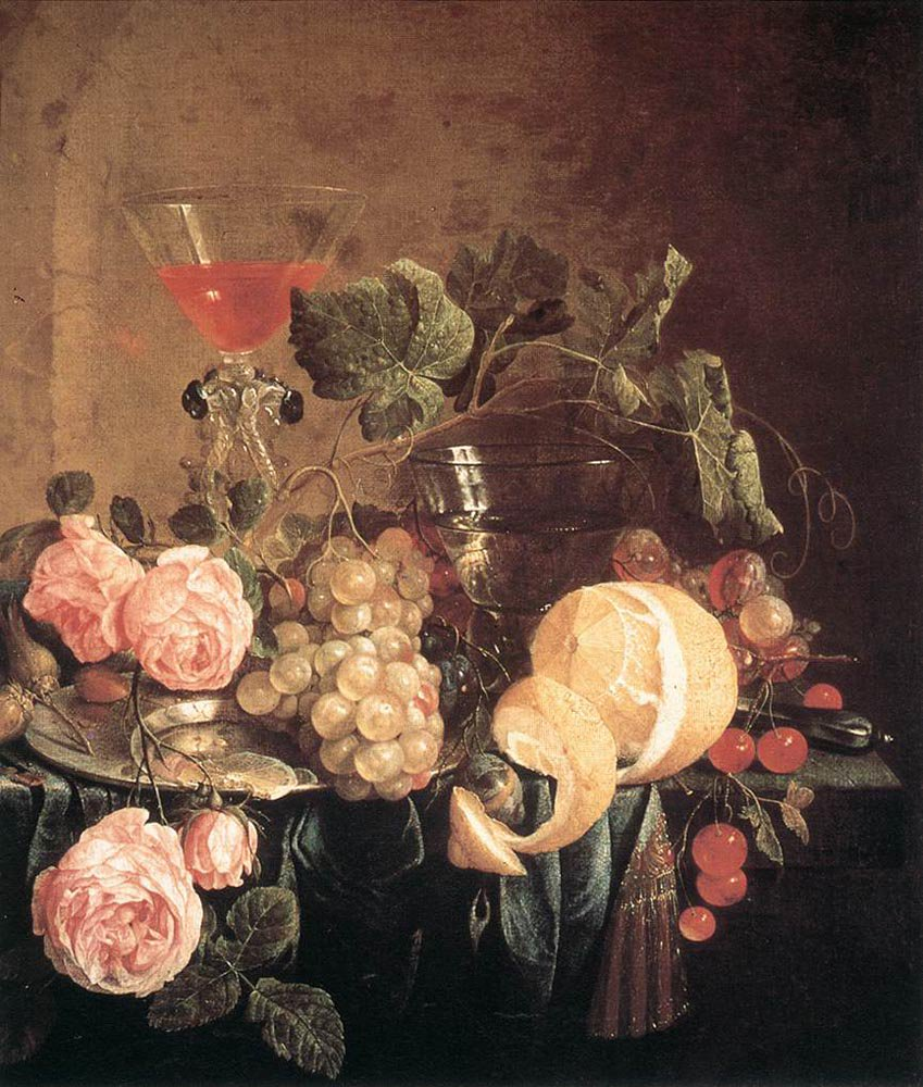 Still Life with Flowers and Fruit 1650 | Jan Davidsz de Heem | oil painting