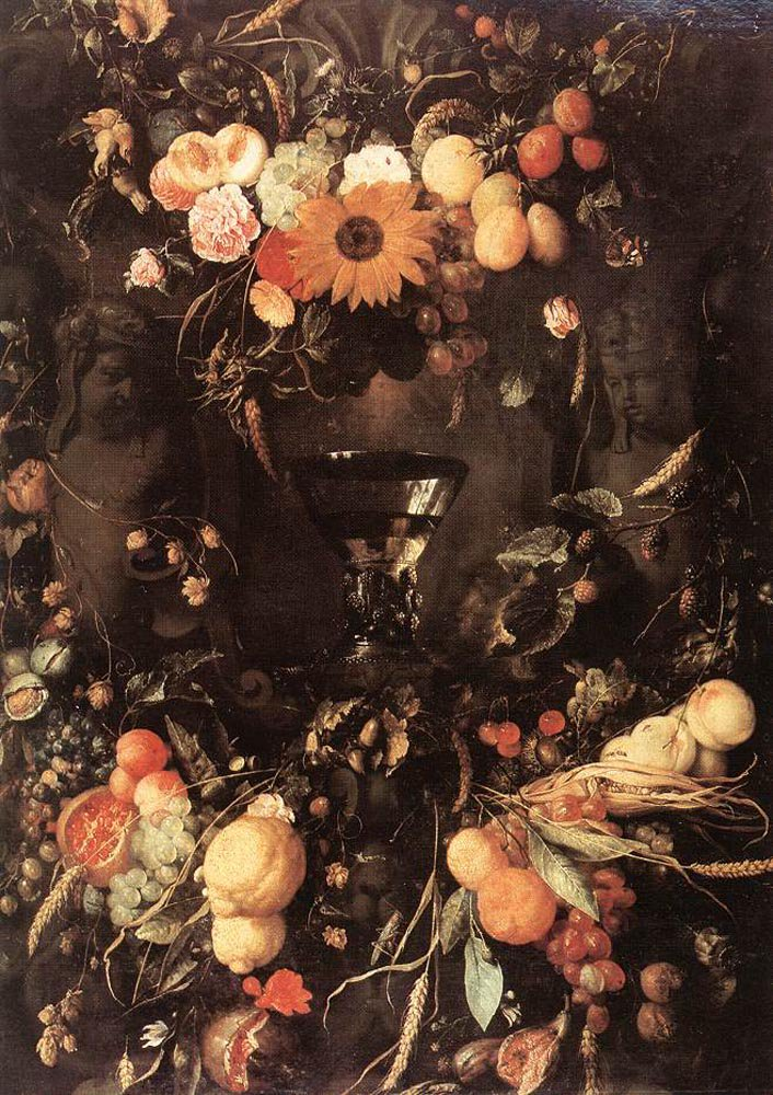 Fruit and Flower Still life 1650 | Jan Davidsz de Heem | oil painting