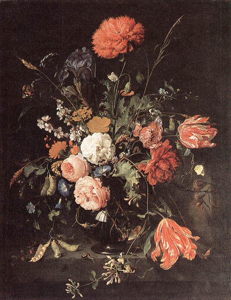 Vase of Flowers | Jan Davidsz de Heem | oil painting