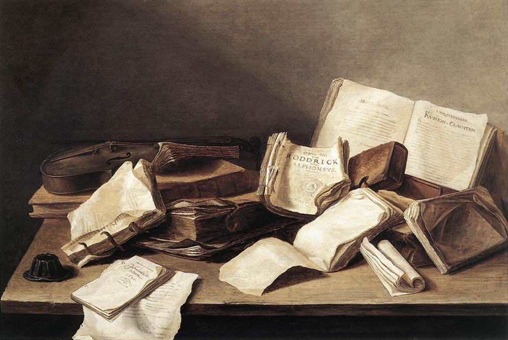 Still Life of Books 1628 | Jan Davidsz de Heem | oil painting