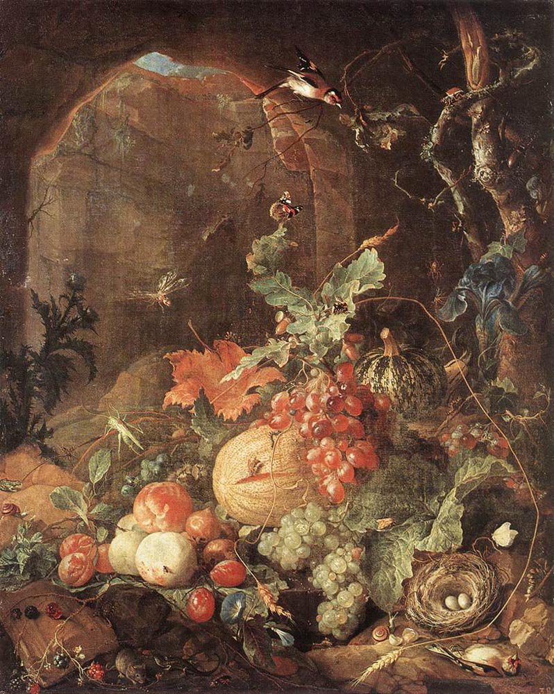 Still life with Bird nest | Jan Davidsz de Heem | oil painting