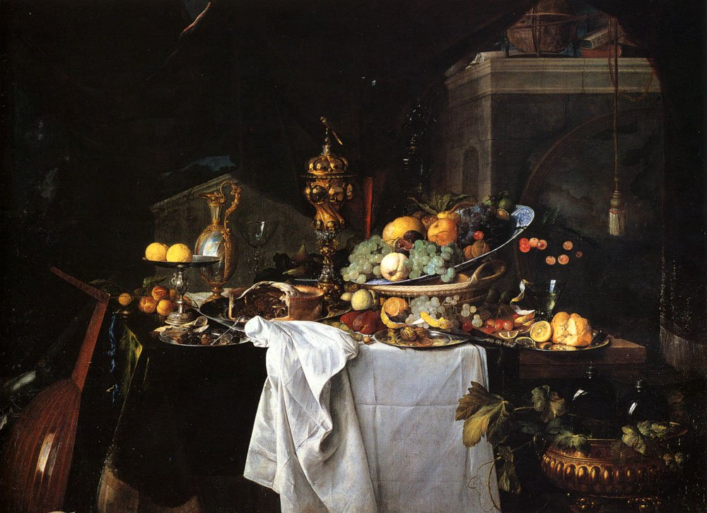 Still Life Of Dessert 1640 | Jan Davidsz de Heem | oil painting