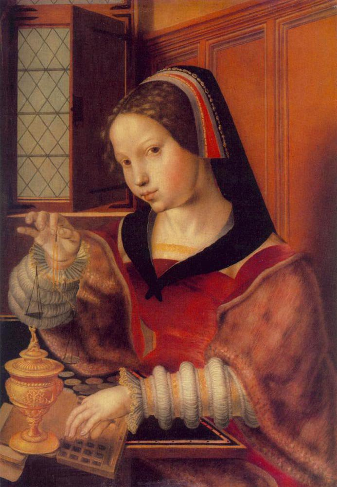 Woman Weighing Gold | Jan Sanders van Hemessen | oil painting