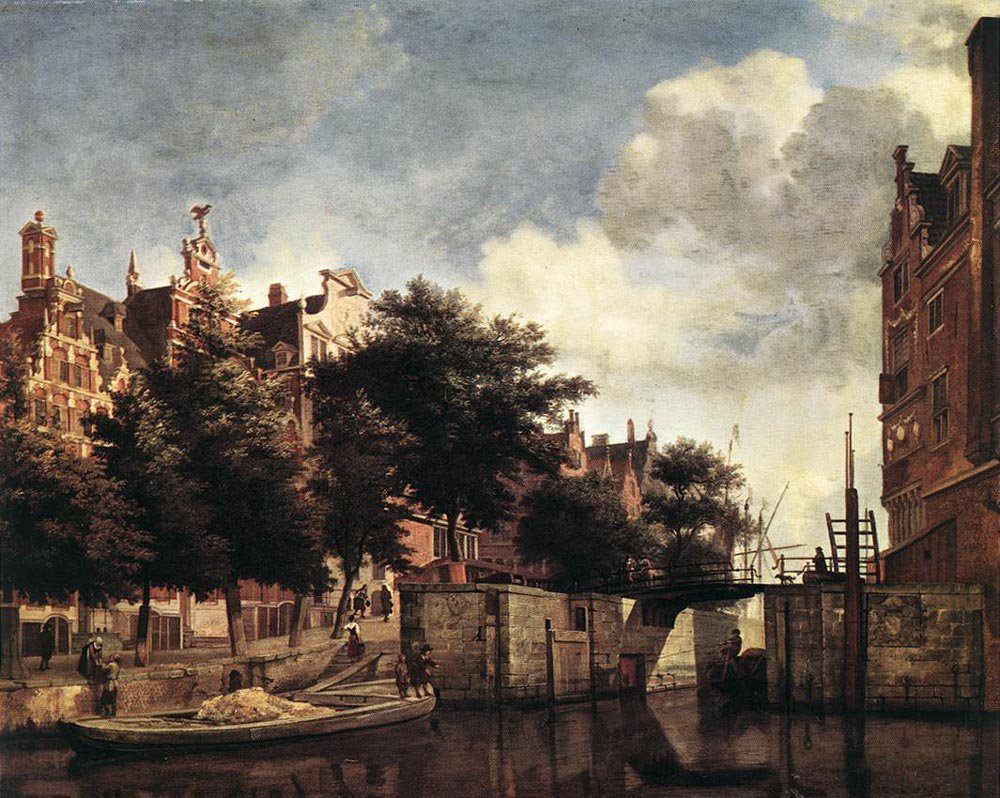 The Martelaarsgracht in Amsterdam 1670 | Jan van der Heyden | oil painting