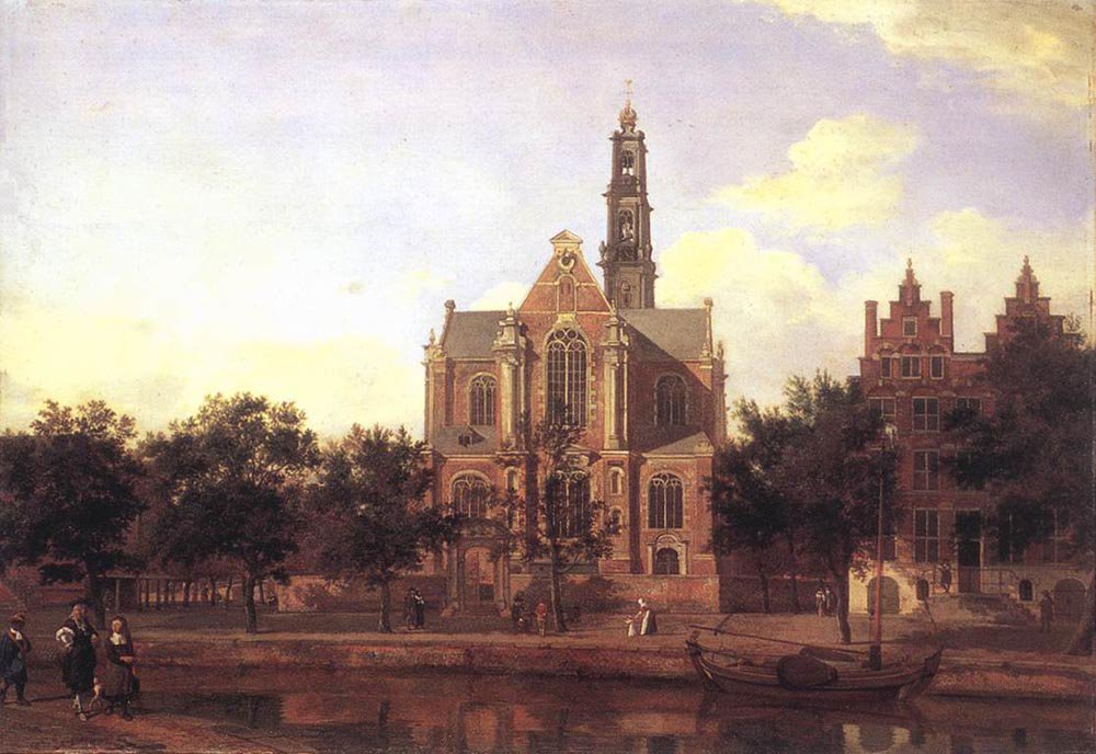 View of the Westerkerk Amsterdam 1670 | Jan van der Heyden | oil painting