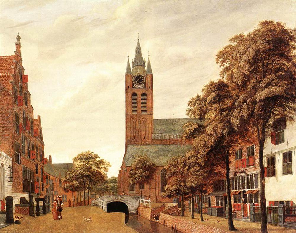 View of Delft | Jan van der Heyden | oil painting