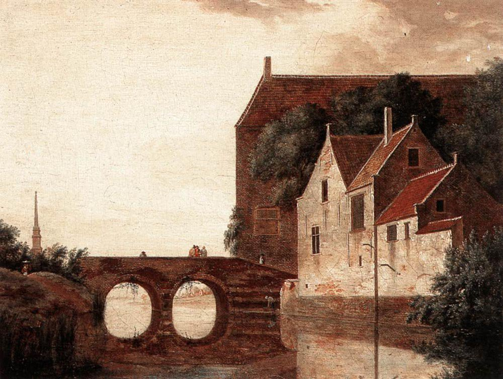 View of a Bridge | Jan van der Heyden | oil painting