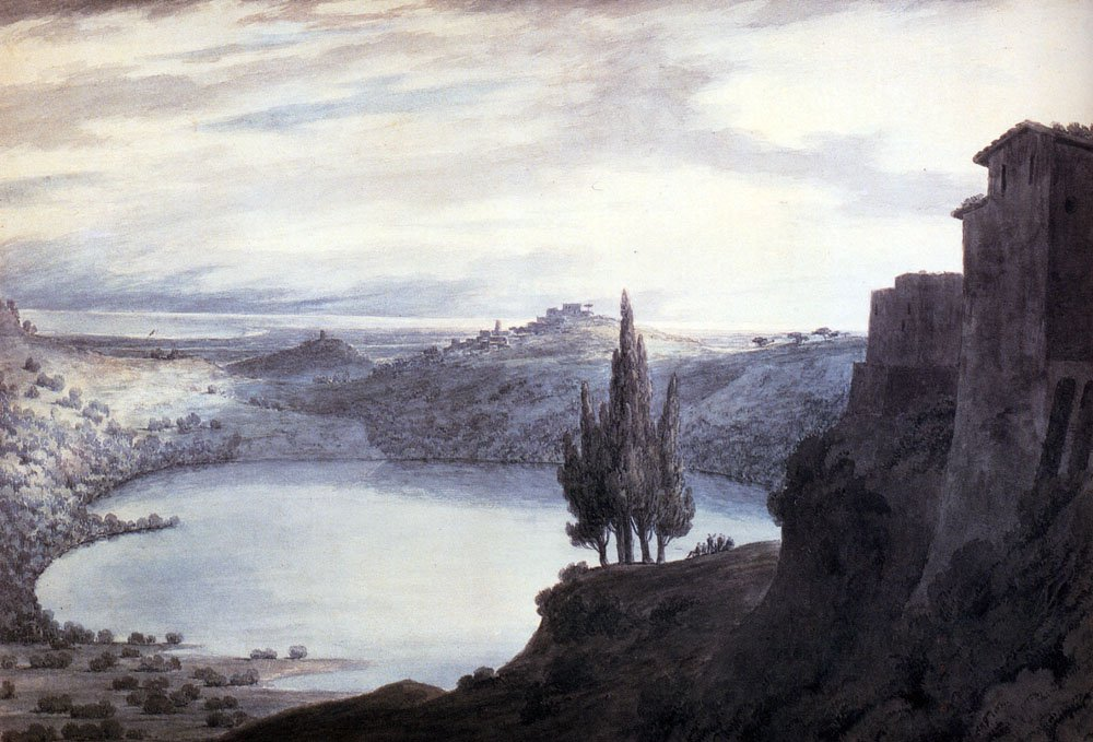 Lake Nemi Campagna Italy 1788 | John Robert Cozens | oil painting