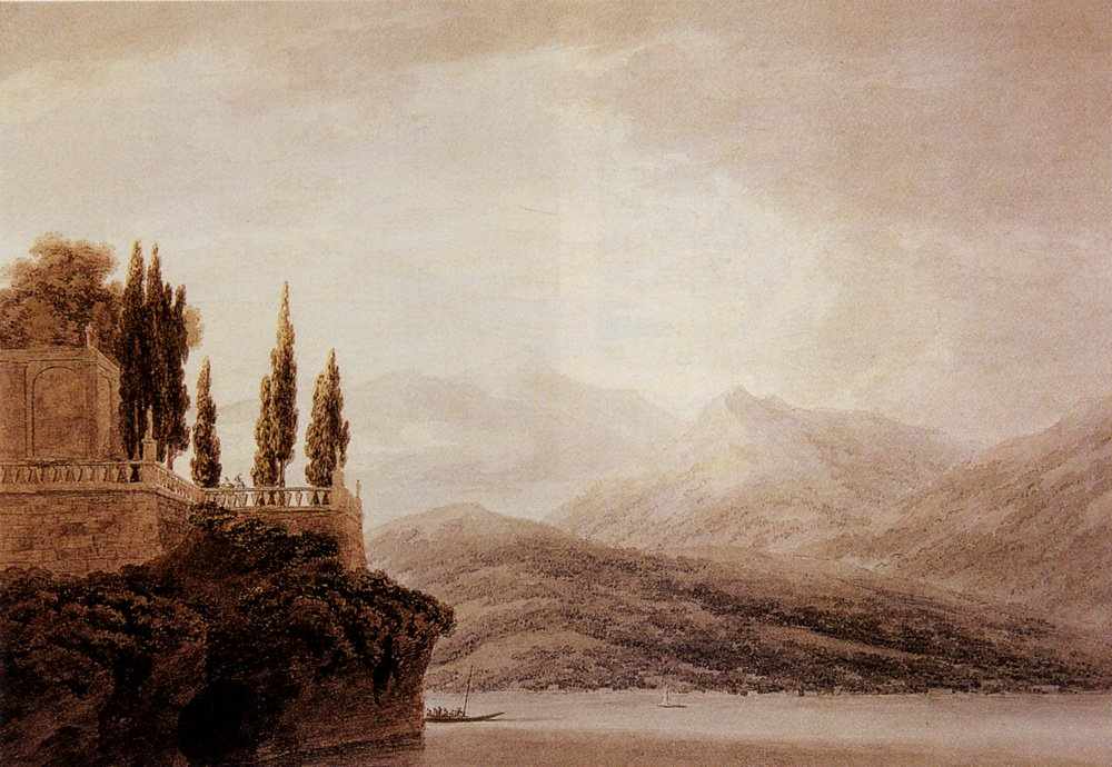 Isola Bella On Lago Maggiore 1783 | John Robert Cozens | oil painting