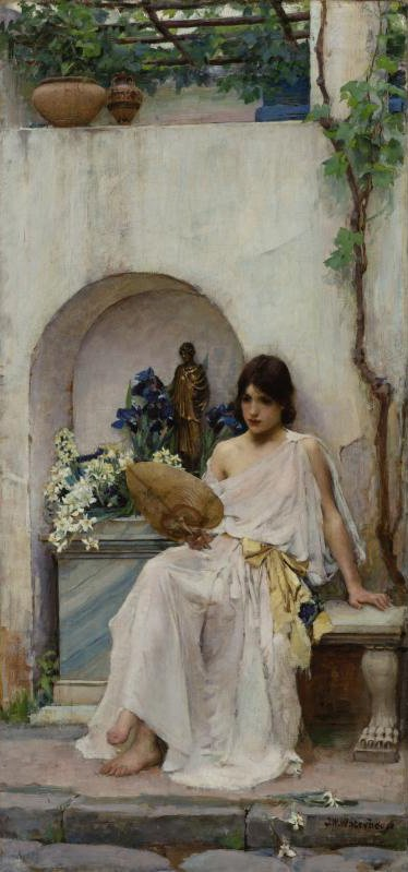 Flora 1890 | John William Waterhouse | oil painting