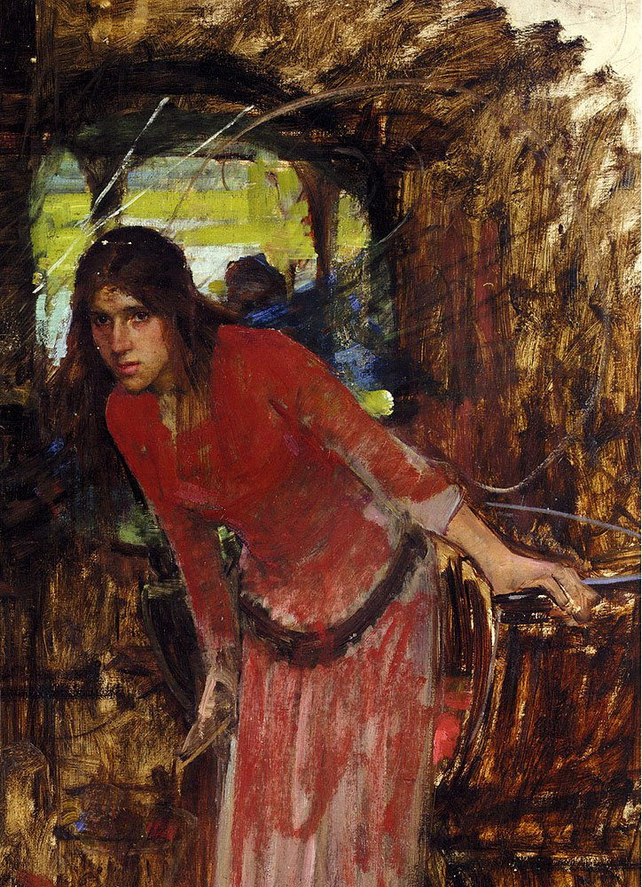 Study For The Lady Of Shallot | John William Waterhouse | oil painting