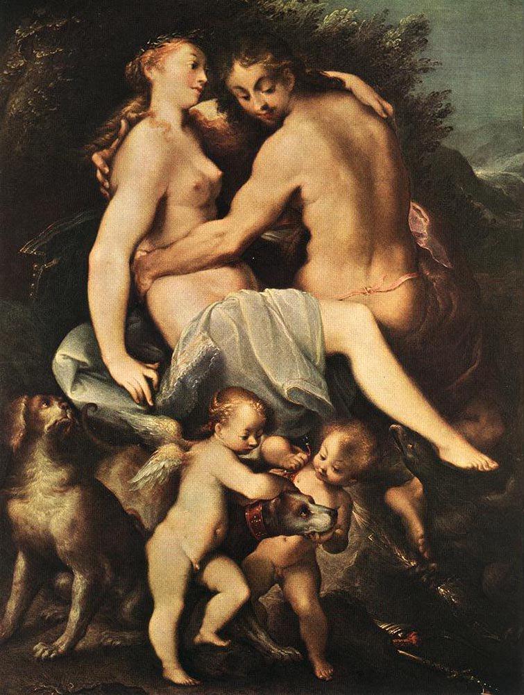 Adonis Parting from Venus   Joseph Heintz the Elder   oil painting
