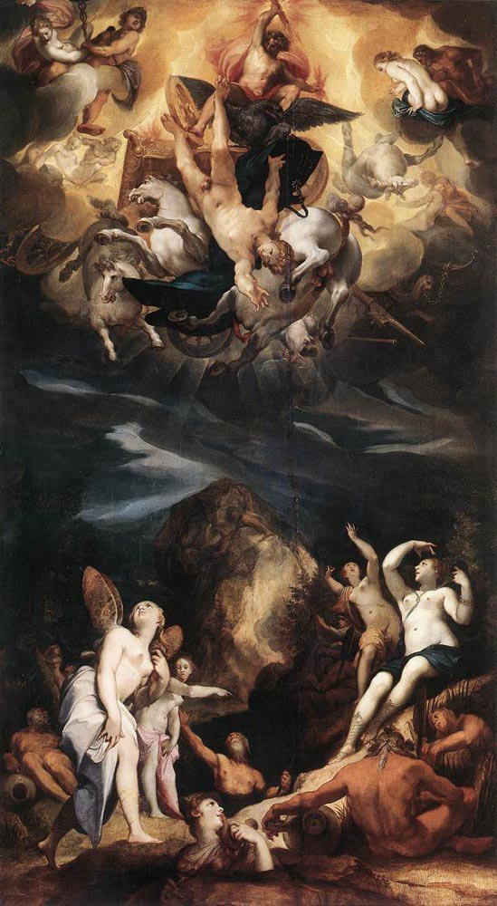 The Fall of Phaeton 1596 | Joseph Heintz the Elder | oil painting