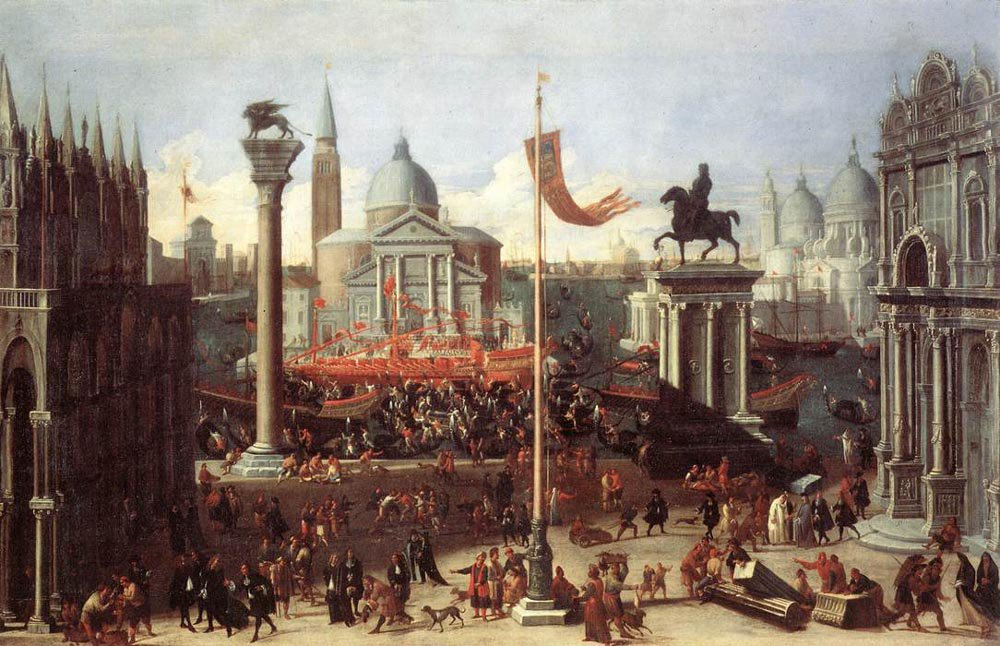 Imaginary Scene with Venetian Buildings 1670 1675 | Joseph Heintz the Younger | oil painting