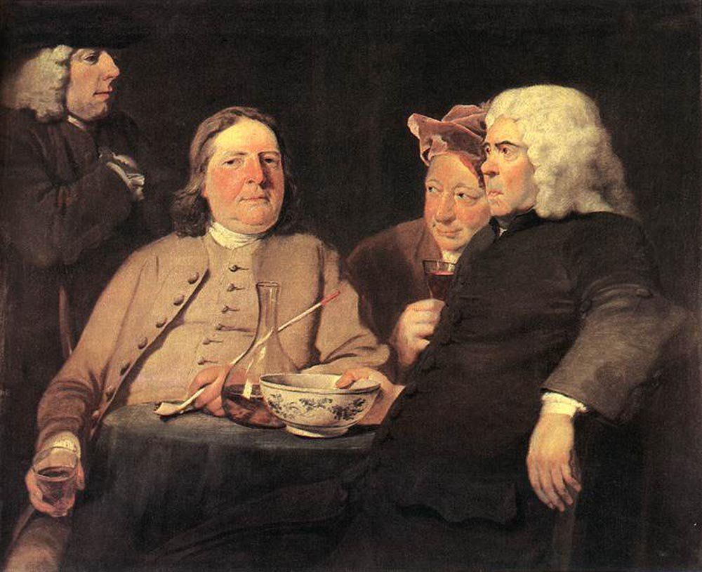 Mr Oldham and his Friends 1750 | Joseph Highmore | oil painting