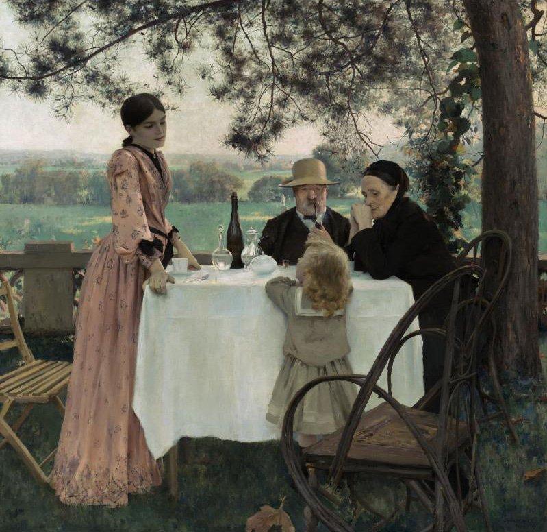 Aux Beaux Jours The Best Days | Jules Alexis Muenier | oil painting