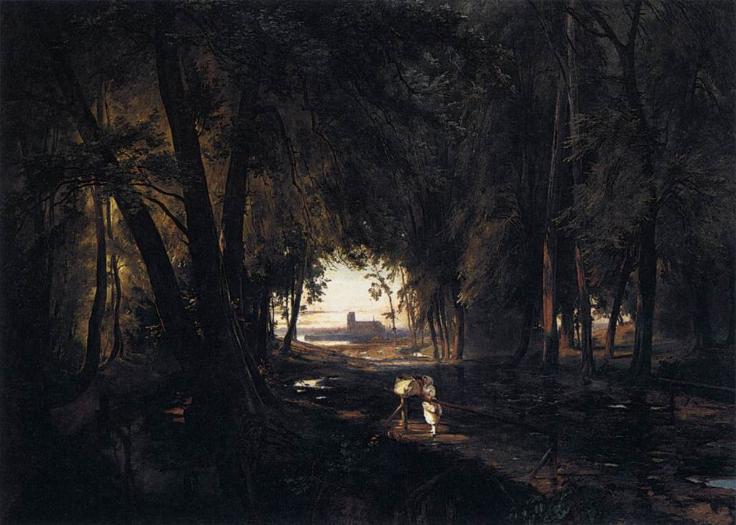 The Woods near Spandau 1834 | Karl Blechen | oil painting