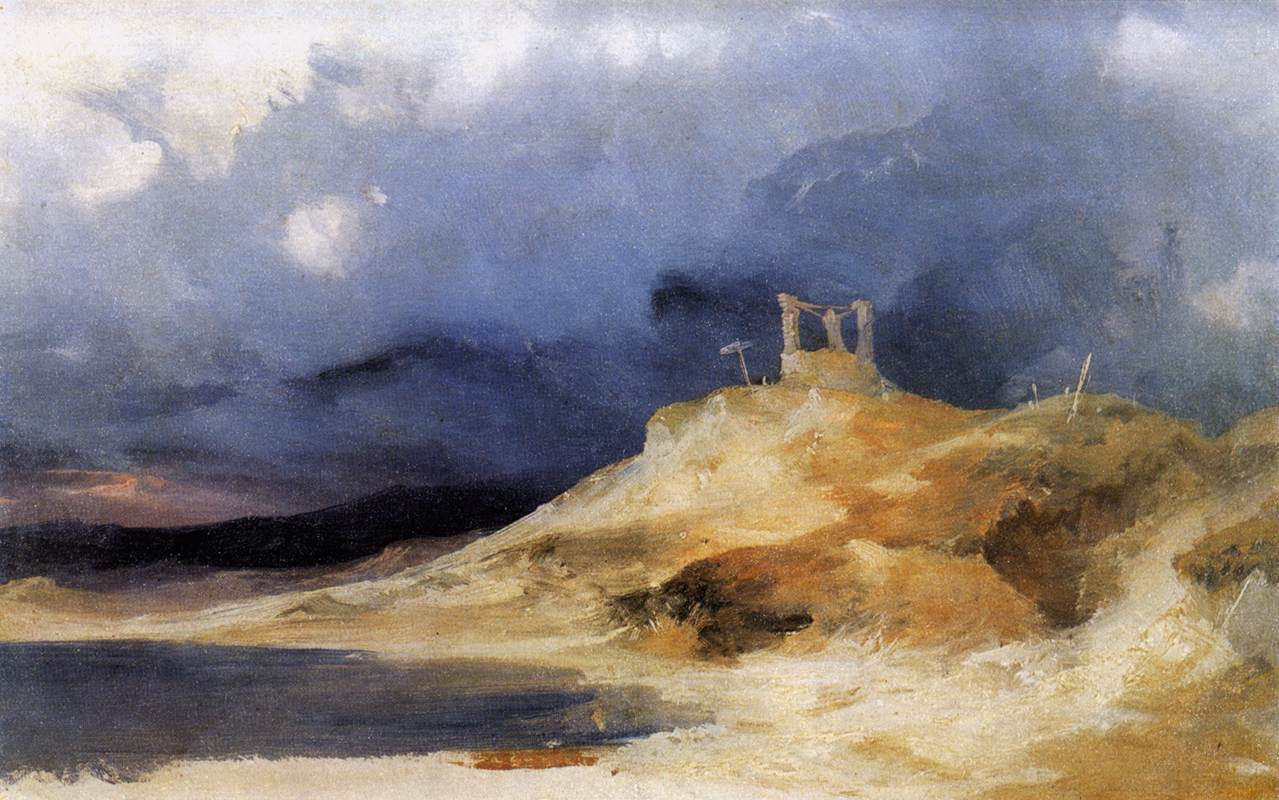 Scaffold in Storm 1833 1835 | Karl Blechen | oil painting