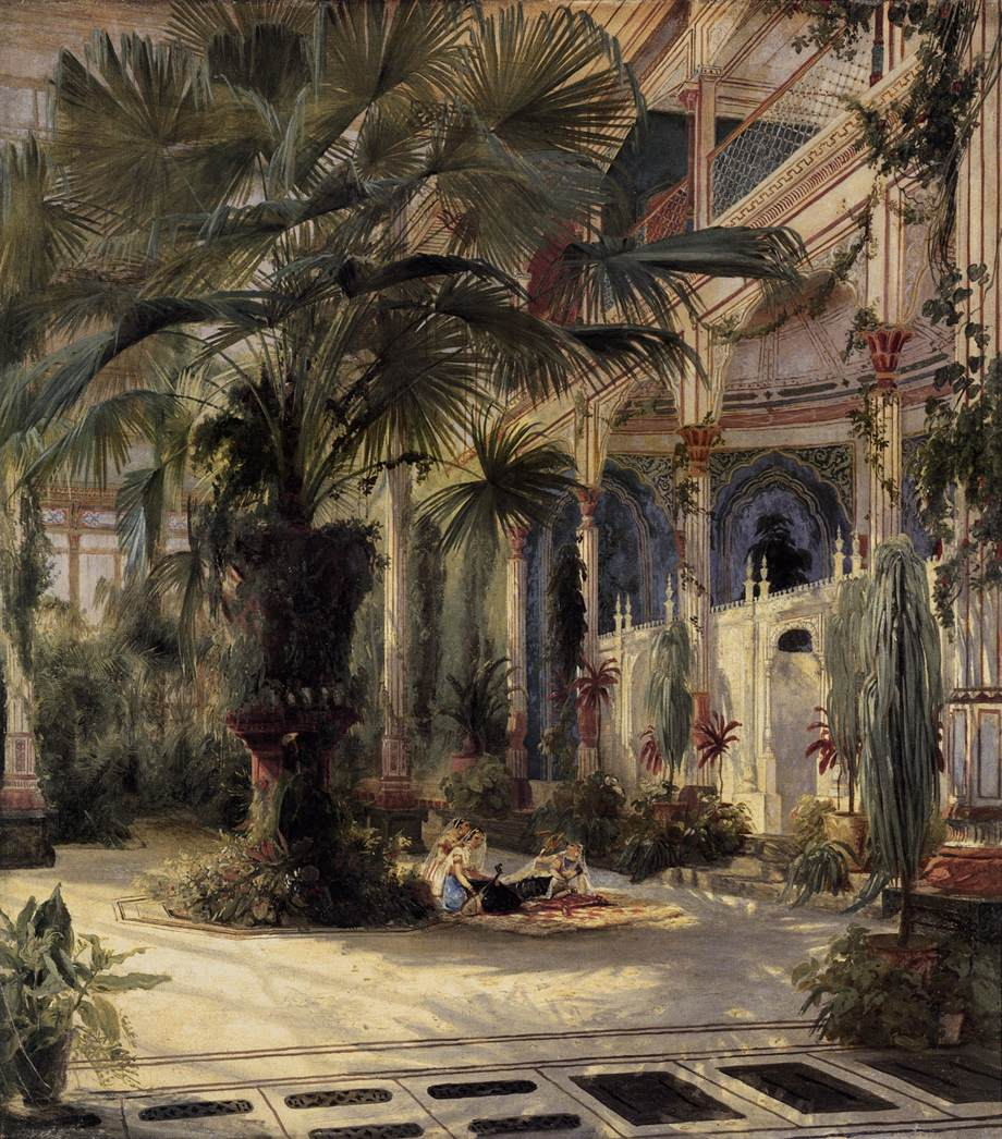 In the Palm House in Potsdam 1832 1834 | Karl Blechen | oil painting