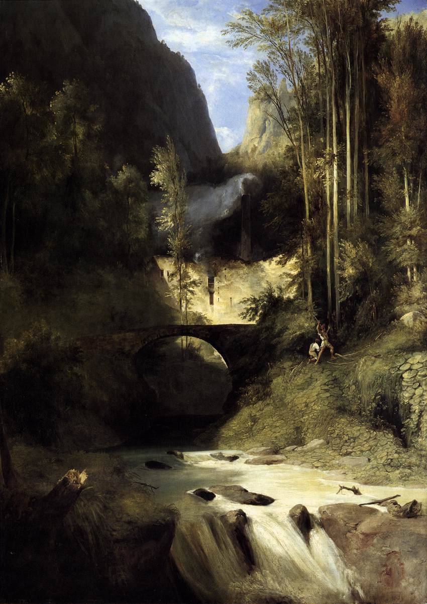 Gorge at Amalfi 1831 | Karl Blechen | oil painting