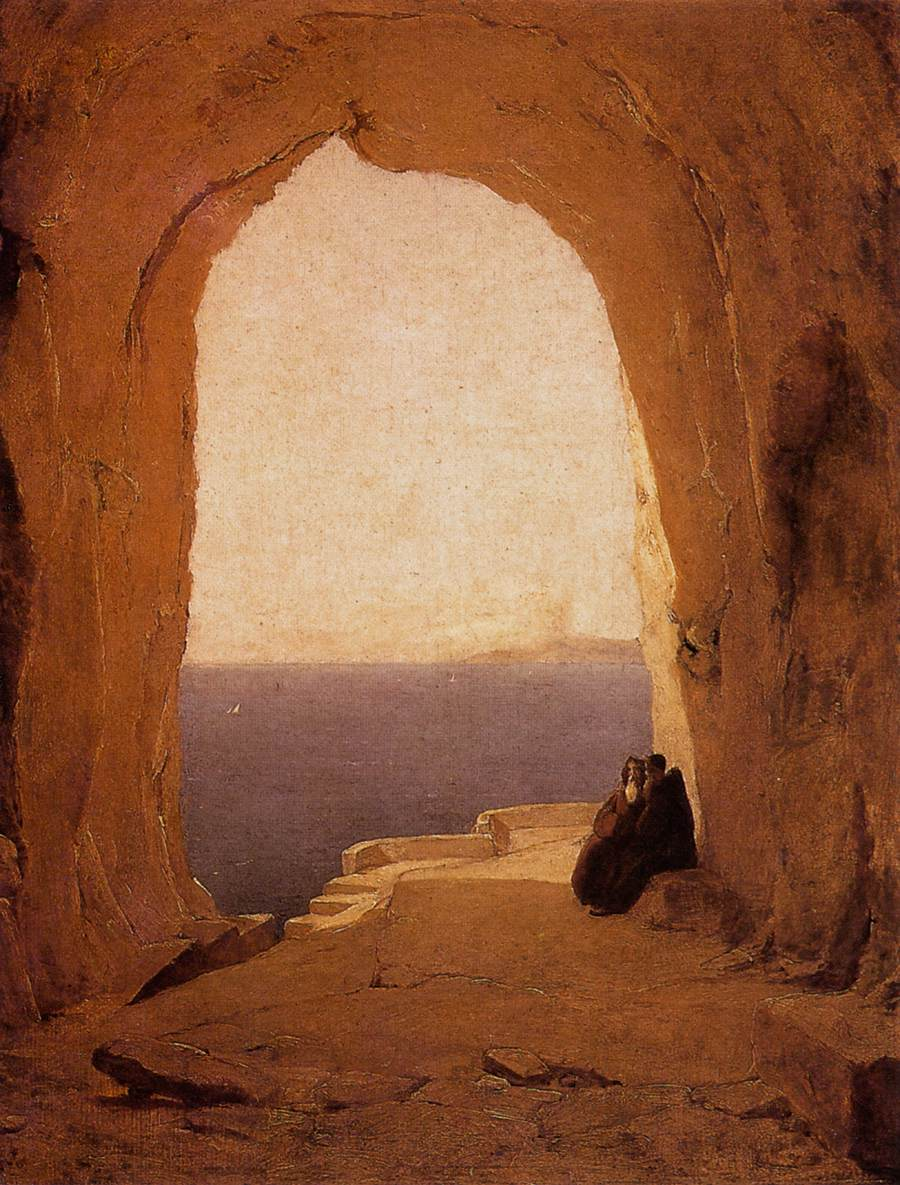 Grotto in the Gulf of Naples 1829 | Karl Blechen | oil painting