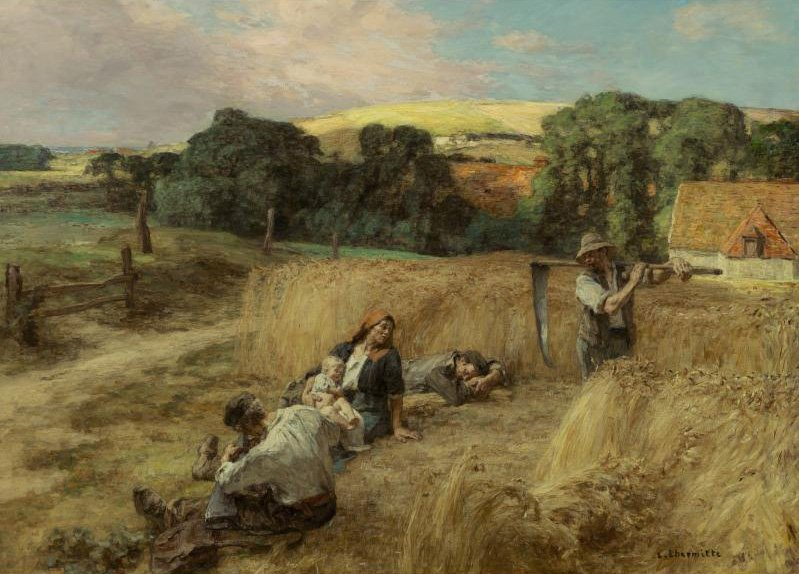 A Rest from the Harvest | Leon Augustin L hermitte | oil painting