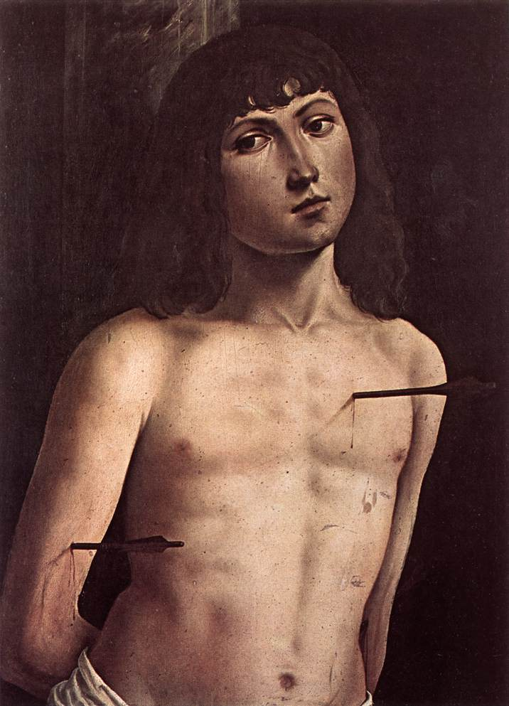 St Sebastian 1490 1491 | Lorenzo Costa | oil painting
