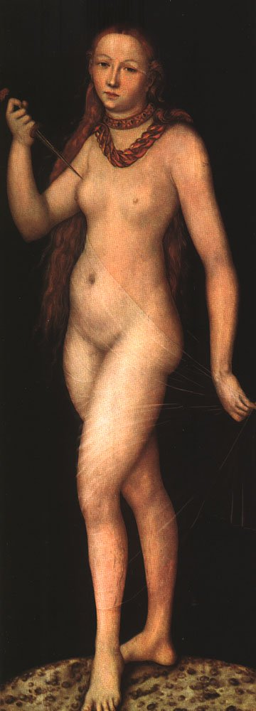 Lucretia 1524 | Lucas Cranach the Elder | oil painting