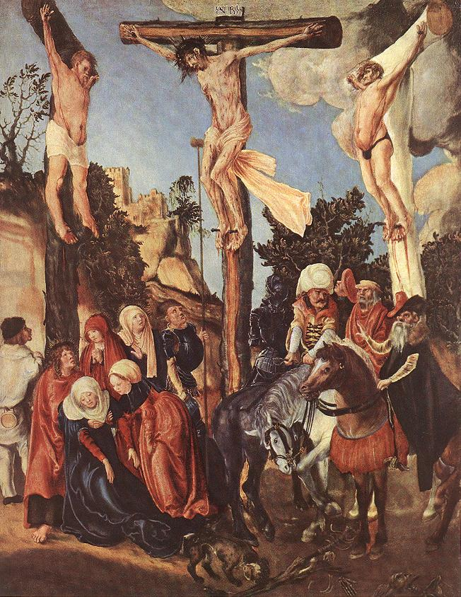 The Crucifixion 1500 1503 | Lucas Cranach the Elder | oil painting