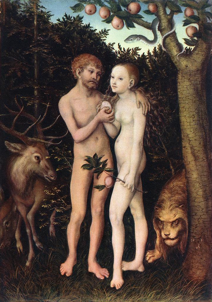 Adam and Eve 1533 | Lucas Cranach the Elder | oil painting