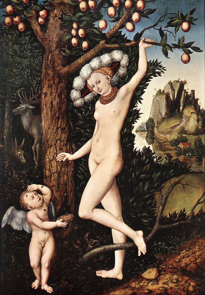 Cupid Complaining to Venus 1530 | Lucas Cranach the Elder | oil painting