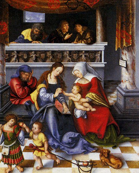 Altar Of The Holy Family 1509 | Lucas Cranach the Elder | oil painting