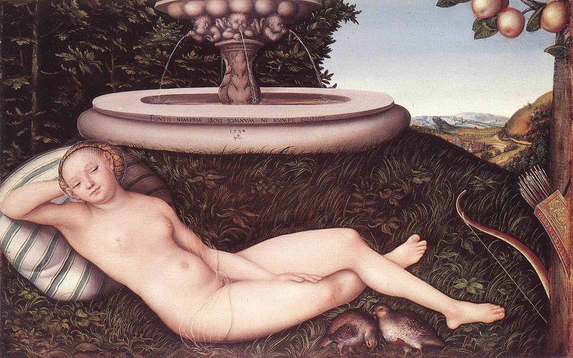 The Nymph of the Fountain 1534 | Lucas Cranach the Elder | oil painting
