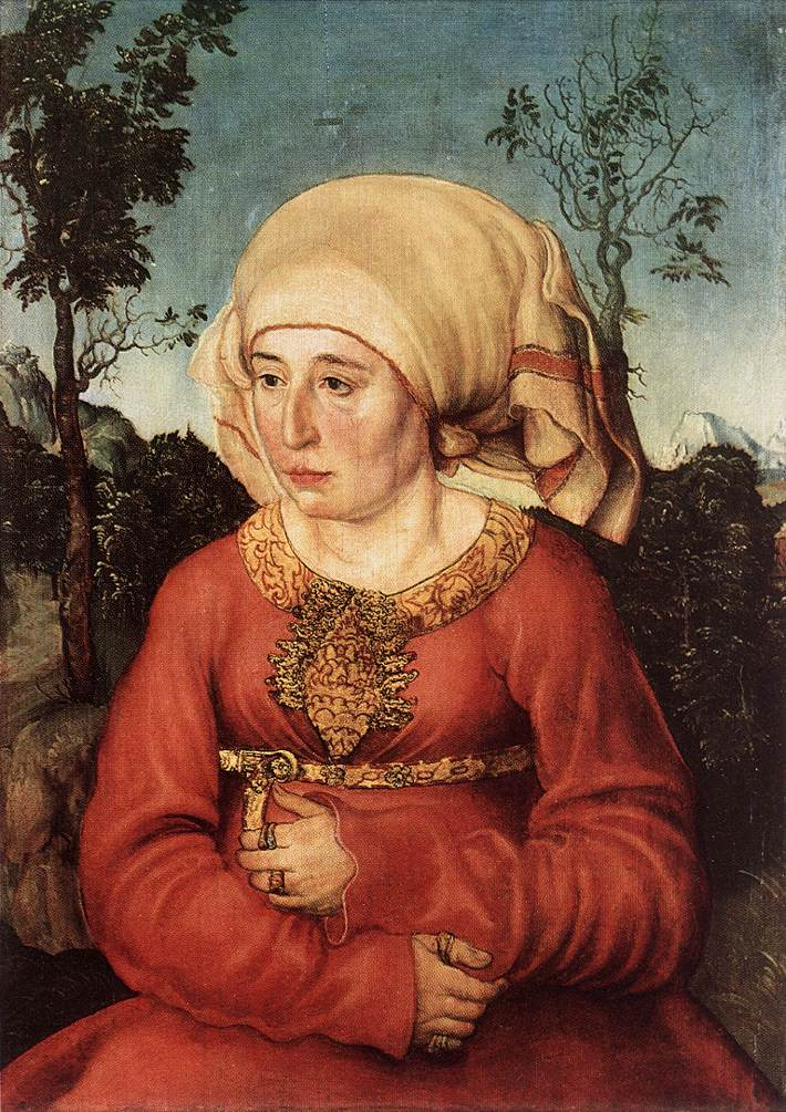 Portrait of Frau Reuss | Lucas Cranach the Elder | oil painting