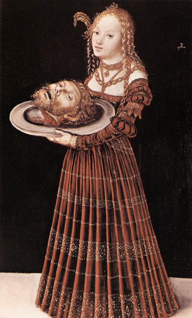 Salome with the Head of St John the Baptist | Lucas Cranach the Elder | oil painting