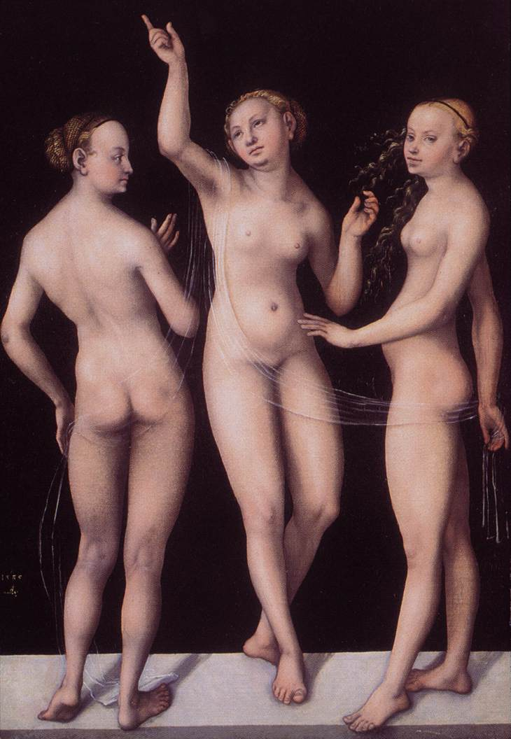 The Three Graces 1535 | Lucas Cranach the Elder | oil painting