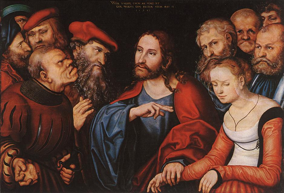 Christ and the Adulteress 1532 | Lucas Cranach the Elder | oil painting