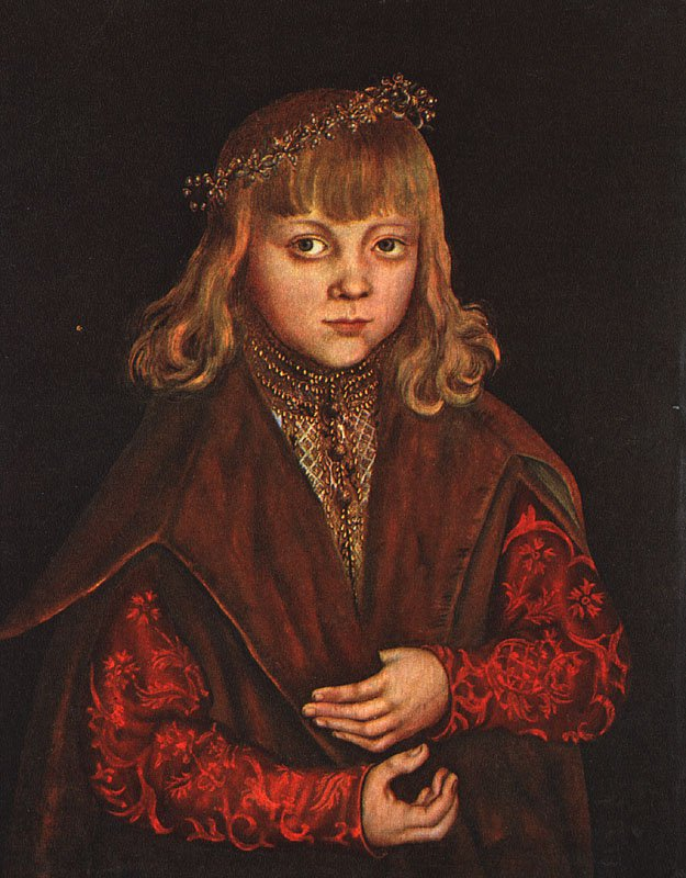 A Prince of Saxony 1517 | Lucas Cranach the Elder | oil painting