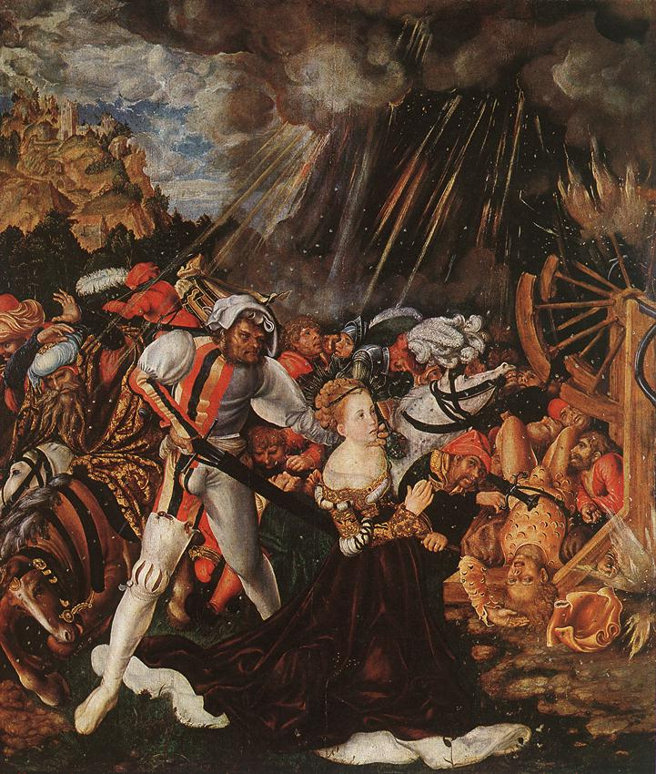 The Martyrdom of St Catherine   Lucas Cranach the Elder   oil painting