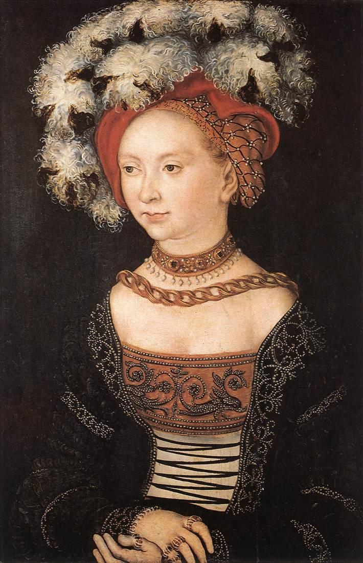 Portrait of a Young Woman 1530   Lucas Cranach the Elder   oil painting