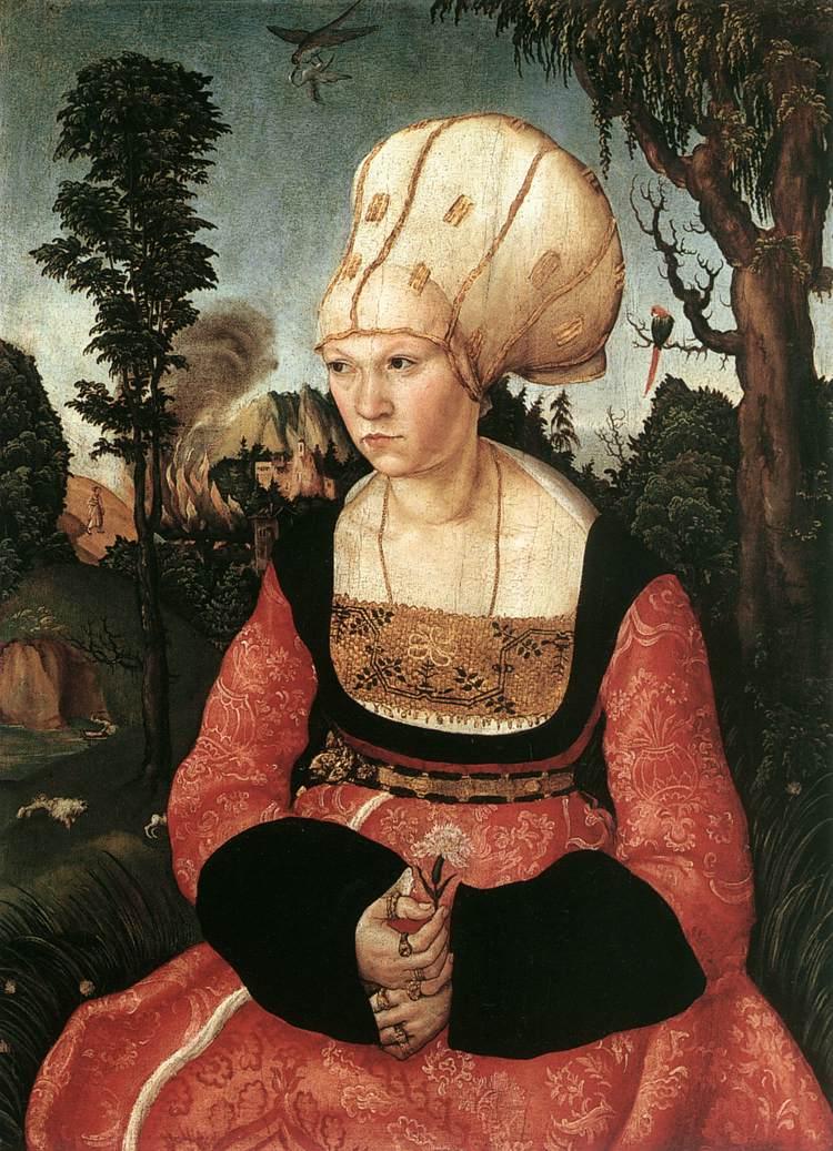 Portrait of Anna Cuspinian 1502   Lucas Cranach the Elder   oil painting
